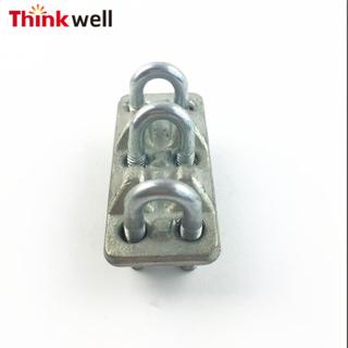 熱浸鍍鋅特殊類型三股鋼絲繩夾